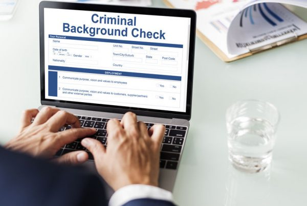 Criminal Background Check Insurance Form Concept - pre employment screening