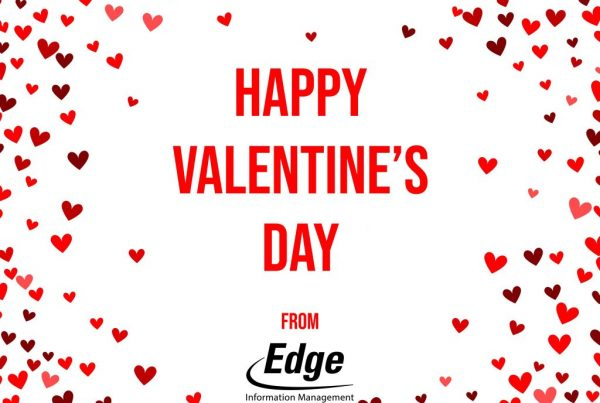 Edge Information Valentine greeting card