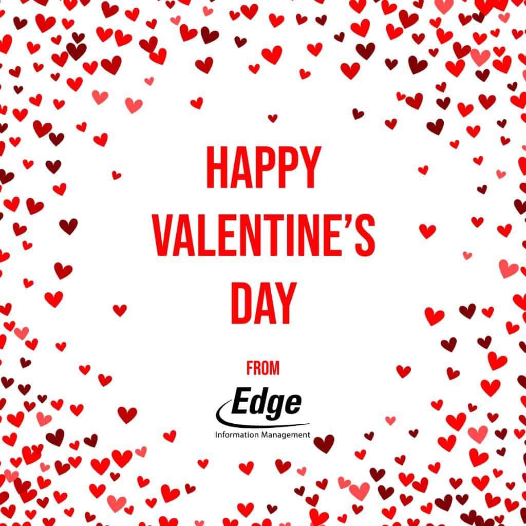 Edge Information Valentine greeting card